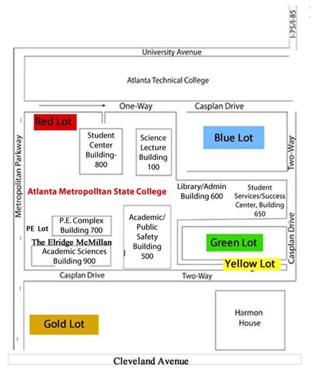 Map Of Colleges In Georgia.Directions About Amc Atlanta Metro College